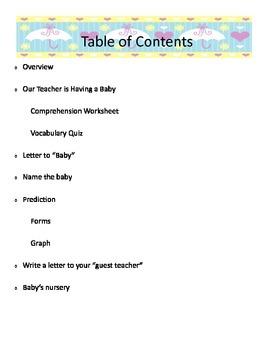 Our Teacher is having a Baby