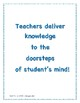 Our Teachers Delivery- National PTA Theme Teachers Appreciation 2018