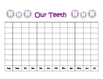 Our Teeth Graph for Calendar Binder