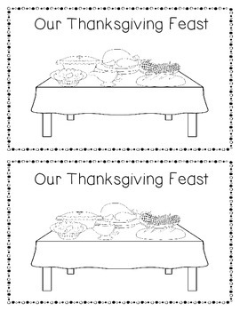 Our Thanksgiving Feast Emergent Reader