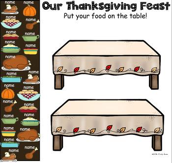 Thanksgiving Feast SmartBoard Attendance