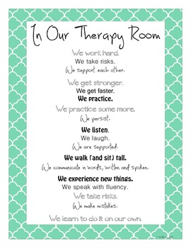 8.5x11 Therapy Room Poster
