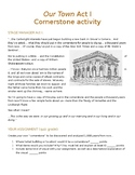 Our Town Act I Cornerstone Activity