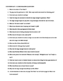 Our Town by Thornton Wilder- Guided Reading Worksheet