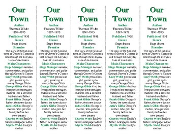 "Our Town edition of Bookmarks Plus: Great ""gift"" for stude"