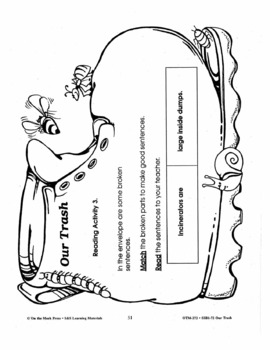 Our Trash 4 Reading Activities