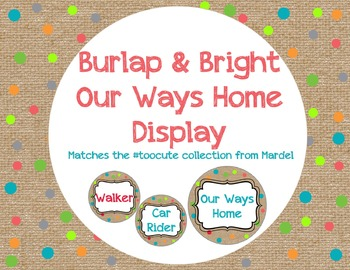 Our Ways home Burlap and Bright Matches Toocute