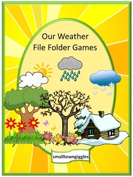Weather Unit Math and Literacy File Folder Games  Special Education Kindergarten