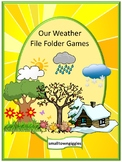 Weather Activities Autism File Folder Games Special Education Math & Literacy