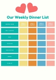 Our Weekly Dinner Organizer - FREE