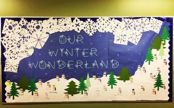 Our Winter Wonderland Bulletin Board Title By Mrs Hillards Happy Place