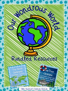 Continents and Oceans Wondrous World Bundle