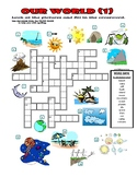 Our World (1) Crossword Puzzle with Pictures (Nature / Env