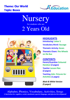 Our World - Buses : Letter S : Sausage - Nursery (2 years old)