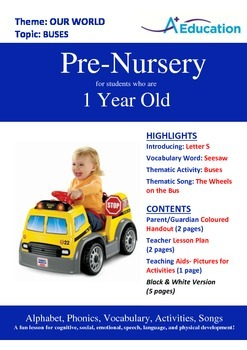 Our World - Buses : Letter S : Seesaw - Pre-Nursery (1 year old)