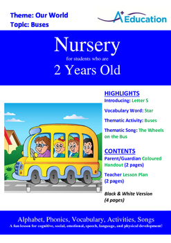 Our World - Buses : Letter S : Star - Nursery (2 years old)