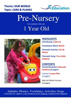 Our World - Cars & Planes: Letter Q : Quack - Pre-Nursery (1 year old)