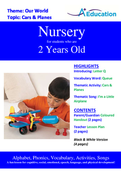 Our World - Cars & Planes : Letter Q : Queue - Nursery (2