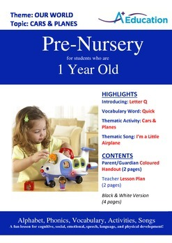 Our World - Cars & Planes : Letter Q : Quick - Pre-Nursery (1 year old)