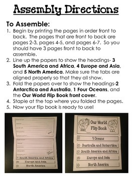 Our World Flip Book