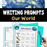 Our World Theme Writing Choice Board: Recount, Persuasive, Narrative, Genres