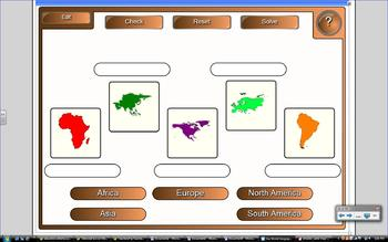 Our World / Me on the Map SmartBoard Lesson (Canadian).
