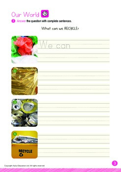 Our World - Recycle (II): EEP Family - K3 (5 years old)
