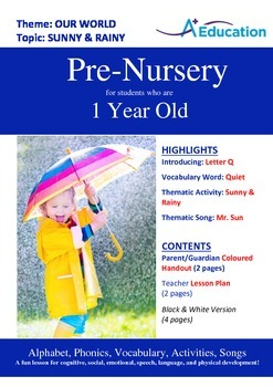 Our World - Sunny & Rainy : Letter Q : Quiet - Pre-Nursery