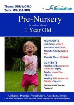 Our World - Walk & Run : Letter R : Rain - Pre-Nursery (1 year old)