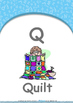 Our World - Sunny & Rainy : Letter Q : Quilt - Nursery (2 years old)