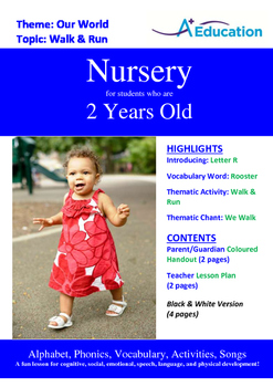 Our World - Walk & Run : Letter R : Rooster - Nursery (2 years old)
