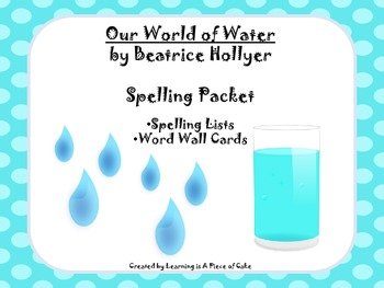 Our World of Water Spelling Packet