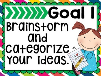 Our Writing Goals- Seven Simple Steps