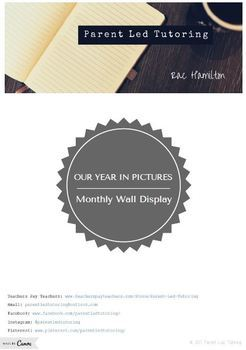Our Year in Pictures (Monthly Display)