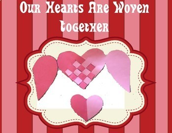 Our hearts Are Woven Card Valentine  Mother's Day