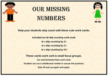 Our missing numbers