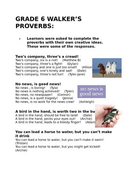 Our proverbs