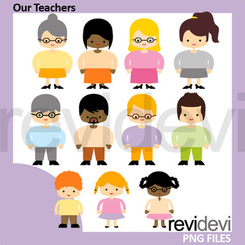 Our teachers clipart (kid and adult people clip art)