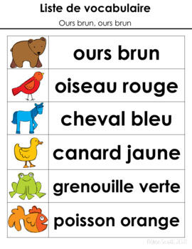 Ours brun, dis-moi - Primary French Activities for Brown Bear, Brown Bear