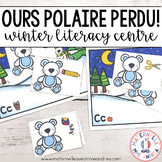Ours polaire perdu! (le son initial) FRENCH beginning sounds literacy centre
