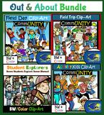 Out & About Bundle!  Field Trip, Outside, Activity,Nature! 100+ Clip-Art Pieces!