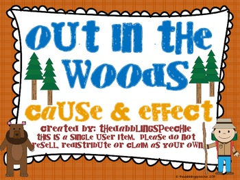 Out In The Woods Cause and Effect Pack