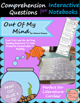 Out Of My Mind Comprehension Questions for Interactive Notebooks