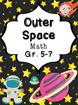 Out Of This World Math Worksheets for Space Unit