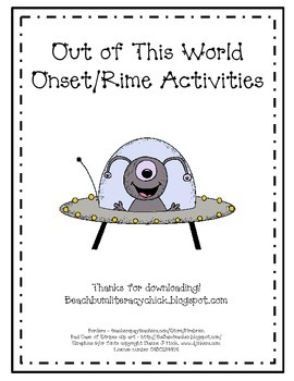 Out Of This World - Onset/Rime Activity Cards
