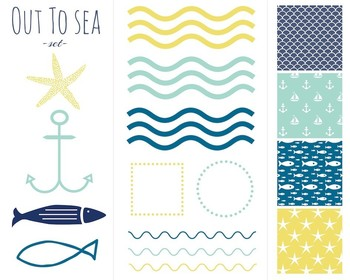 Out To Sea Nautical Set { Digital Clip Art }