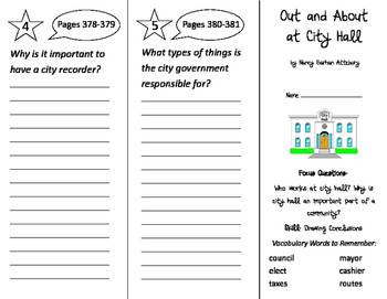 Out and About at City Hall Trifold - Imagine It 2nd Grade Unit 3 Week 4