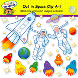 Out in Space Clip Art