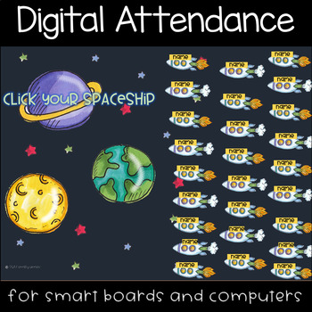 Out in Space Digital Attendance (Smart Boards and Computers)
