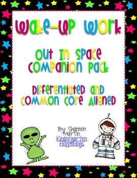 Out in Space! Wake-Up Work {Common Core Aligned, Different